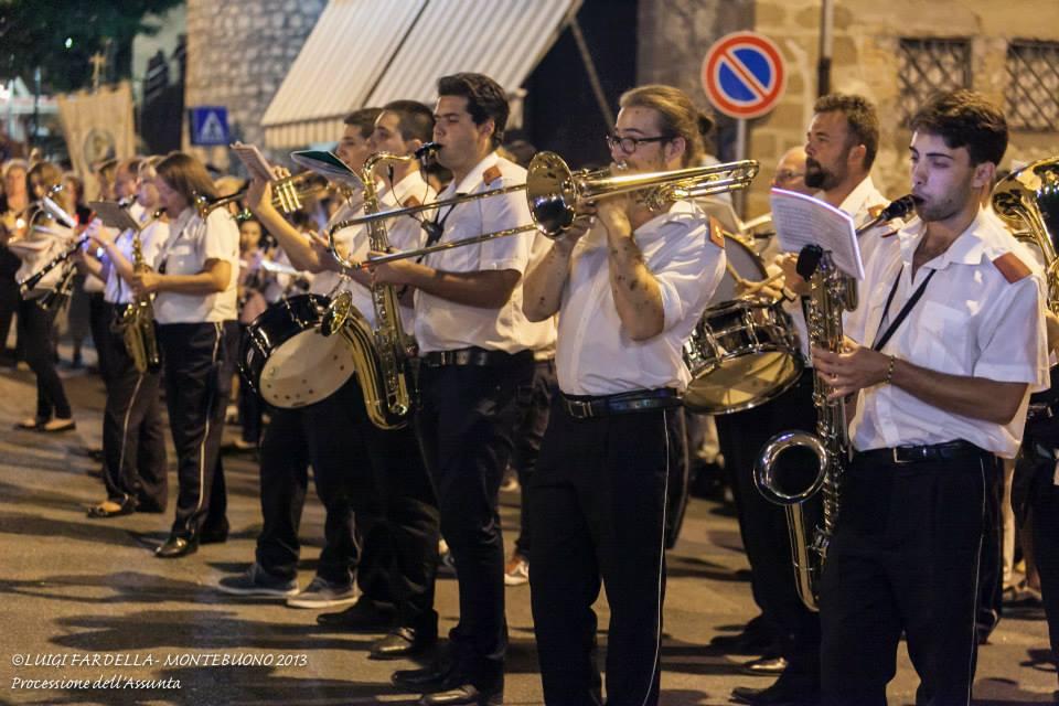 Banda al termine della processione di Ferragosto 2013